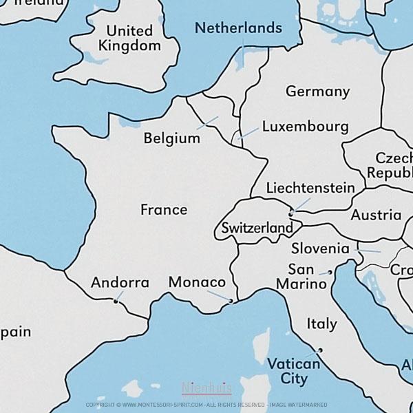 carte europe en anglais