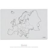 Carte des états de l'Europe x50