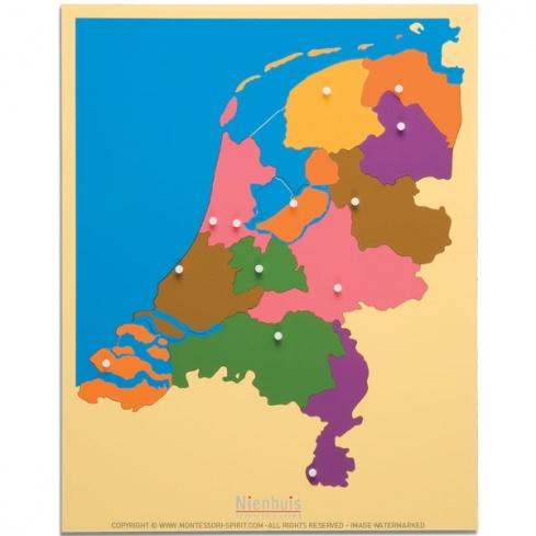 Carte puzzle des Pays-Bas