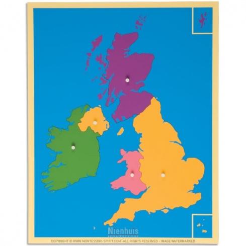Carte puzzle du Royaume-Uni