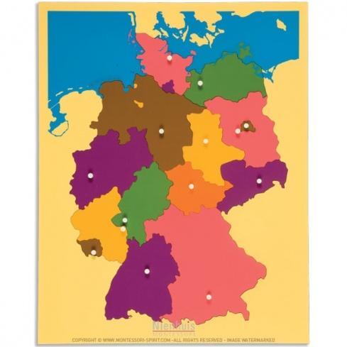 Carte puzzle de l'Allemagne