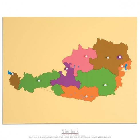 Carte puzzle de l'Autriche