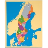 Carte puzzle de la Suède