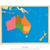 Carte puzzle de l'Australie - océanie