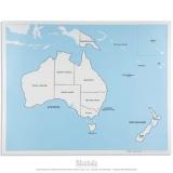 Carte de contrôle de l'Australie - océanie en anglais