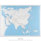 Carte de contrôle muette de l'Asie