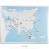 Carte de contrôle de l'Asie