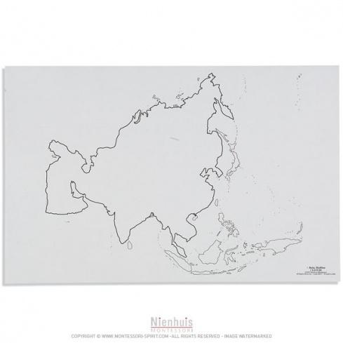 Silhouette de l'Asie x50