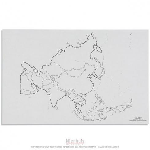 Carte des états de l'Asie x50
