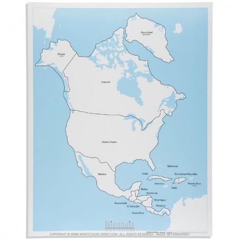 Carte de contrôle d'Amérique du Nord en anglais