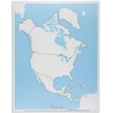 Carte de contrôle muette d'Amérique du Nord