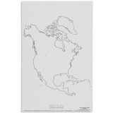 Silhouette d'Amérique du Nord x50