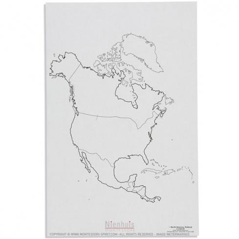 Carte des états d'Amérique du Nord x50