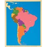 Carte puzzle d'Amérique du Sud