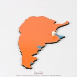 Pièce puzzle d'Amérique du Sud : Argentine