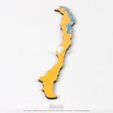 Pièce puzzle d'Amérique du Sud : Chili