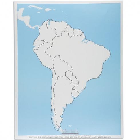 Carte de contrôle muette d'Amérique du Sud