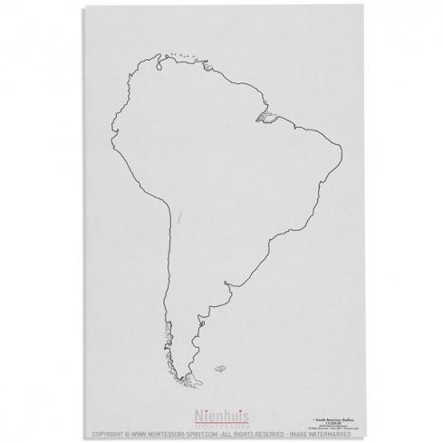 Silhouette d'Amérique du Sud x50