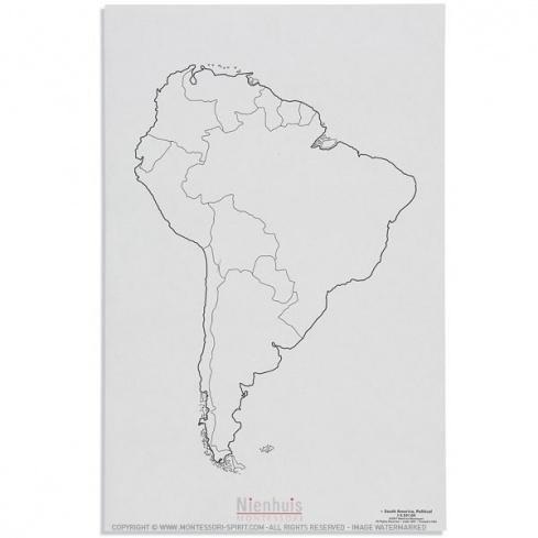 Carte des états d'Amérique du Sud x50