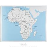 Carte de contrôle de l'Afrique en anglais