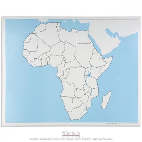 Carte de contrôle muette de l'Afrique