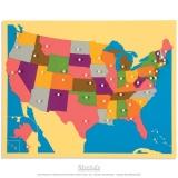 Carte puzzle des Etats-Unis