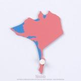 Pièce puzzle des Etats-Unis : Alaska