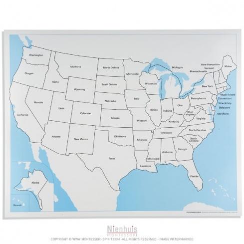 Carte de contrôle des Etats-Unis en anglais