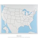 Carte de contrôle muette des Etats-Unis