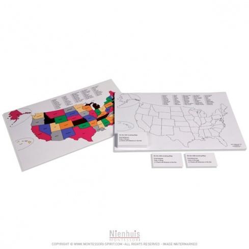 Carte colorée des Etats-Unis