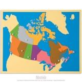 Carte puzzle du Canada