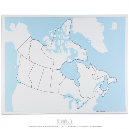 Carte de contrôle muette du Canada