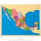 Carte puzzle du Mexique