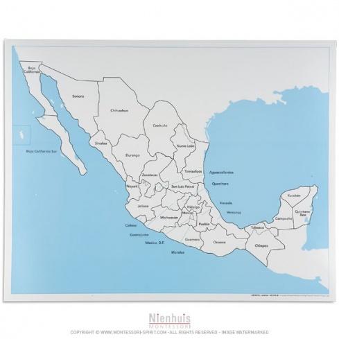 Carte de contrôle du Mexique