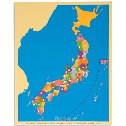 Carte puzzle du Japon