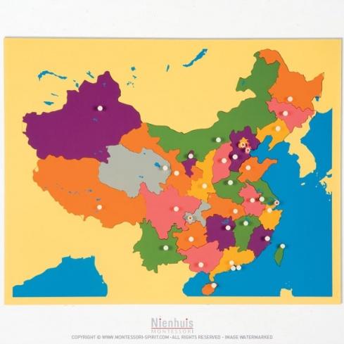 Carte puzzle de la Chine
