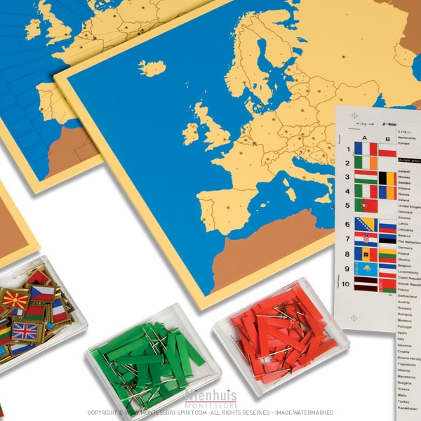 4 cartes de l'Europe   Montessori Spirit