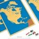 4 cartes de l'Amérique du Nord