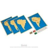 4 cartes de l'Amérique du Sud