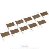 Drapeaux supplémentaires Or x10