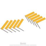 Drapeaux supplémentaires jaune x10