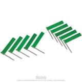 Drapeaux supplémentaires vert x10