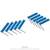 Drapeaux supplémentaires bleu x10