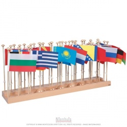Présentoir des drapeaux Europe