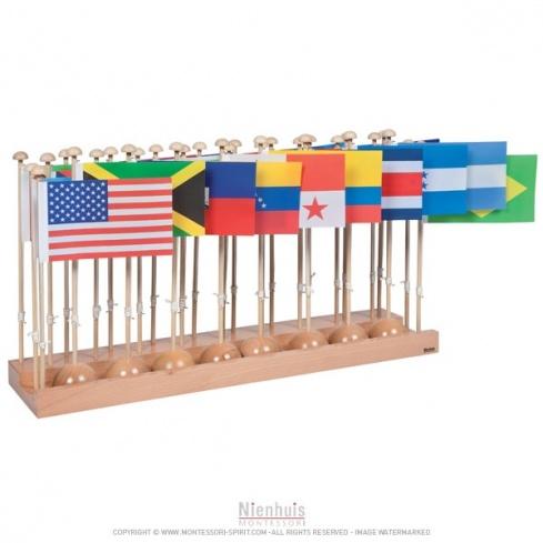 Présentoir des drapeaux des Amériques