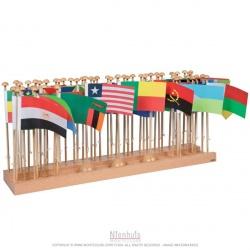 Présentoir des drapeaux Afrique