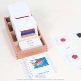 Cartes des drapeaux d'Asie
