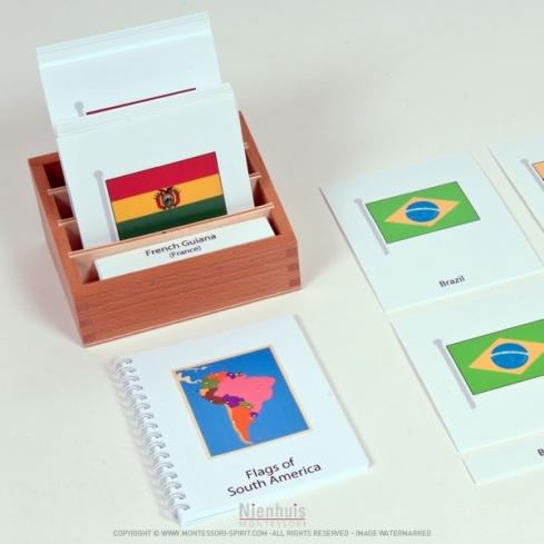 Cartes des drapeaux d'Amérique du Sud