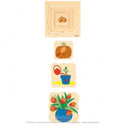 Puzzle évolutif - Tulipes