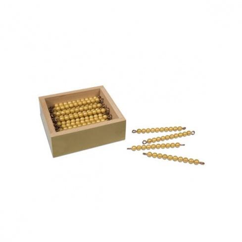 Boite avec 45 barres de 10 perles indiv. nylon